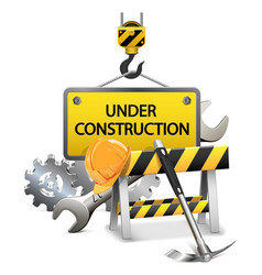 Under construction concept with frame vector