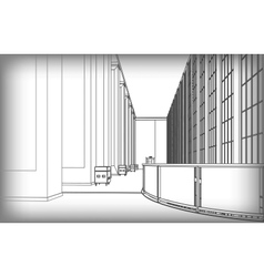 architectural structure of buildings vector image