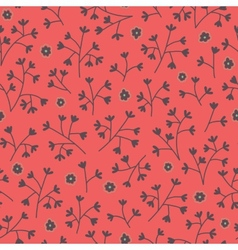 Seamless floral pattern with small flowers endless vector