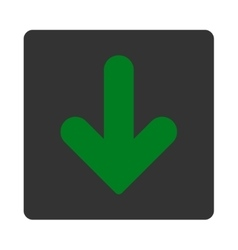 Arrow down flat green and gray colors rounded vector
