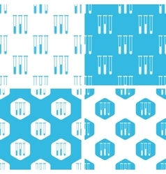 Test-tubes patterns set vector