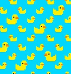 Pixel Duck vector image