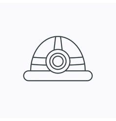 Engineering icon engineer or worker helmet vector