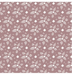 Flower lace seamless pattern vector