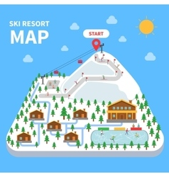 Ski resort map vector