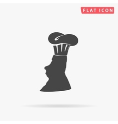 Chef simple flat icon vector
