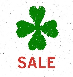 Sale text as saint patricks day sale badge tag and vector