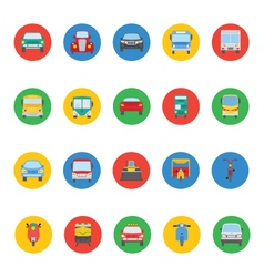 Transports icons 3 vector