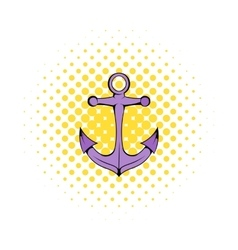 Anchor icon in comics style vector