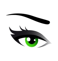 Green woman eye vector