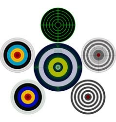 set of targets vector image