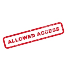 Allowed access text rubber stamp vector
