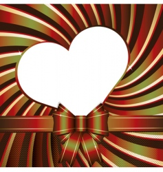 background with heart and ribb vector image vector image