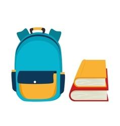 Backpack school bag design vector