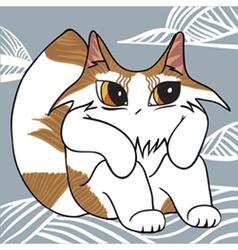 Cat on the cloud vector