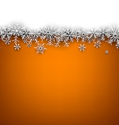 Christmas orange abstract background vector image vector image