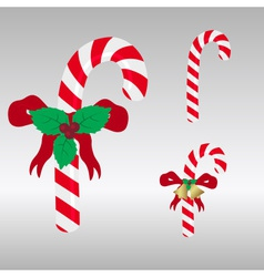 Christmas red and white sweets stick eps10 vector