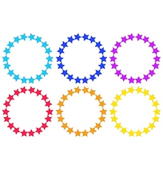 Circles made of stars vector image