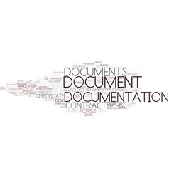 Documentation word cloud concept vector