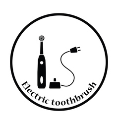 Electric toothbrush icon vector image vector image