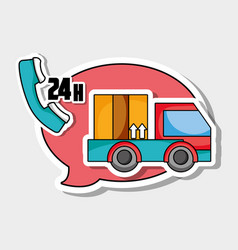 Express delivery service business shipping vector