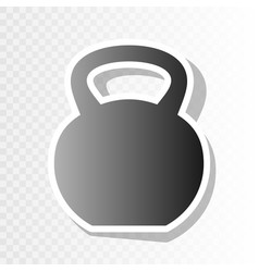 fitness dumbbell sign new year blackish vector image