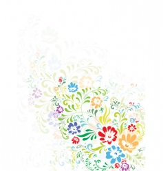 floral abstract decoration vector image vector image