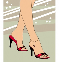 Foot and shoes vector
