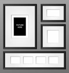 Frames black vector