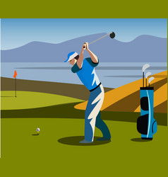 golf course banner vector image vector image