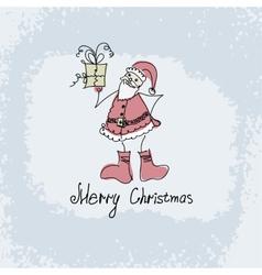 hand drawn Christmas of Santa vector image vector image