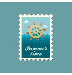 Helm flat stamp summertime vector