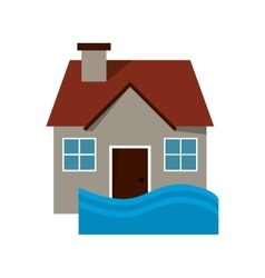 House flood icon vector
