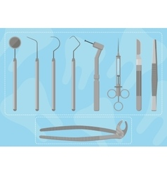 Medical instruments dentist vector image vector image