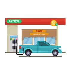 petrol or diesel station in vector image