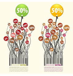 Promotion discount extra 50 percent vector