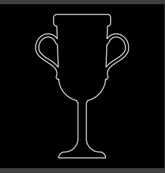 trophy cup the white path icon vector image vector image