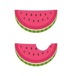 Watermelon Piece vector image vector image