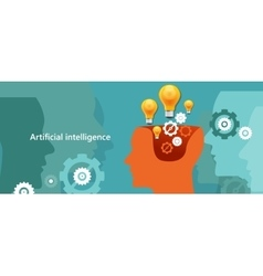 Ai artificial intelligence computer technology to vector