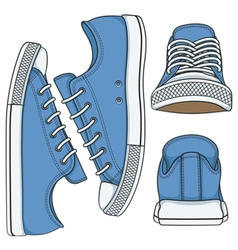 Set of with colored sneakers vector