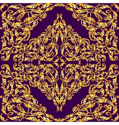 Seamless pattern with vintage gold luxury ornament vector