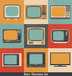 Retro television icons vector