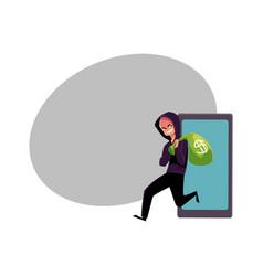 hacker stealing money cybercrime internet fraud vector image