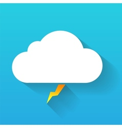 Day cloud and lightning isolated on blue vector