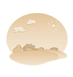 Nature landscape in beige colors vector