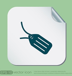Label icon button vector