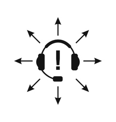 Headphones with answer vector