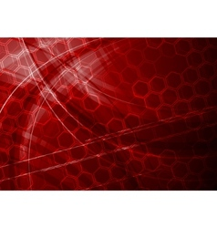 dark red tech background vector image