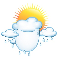 background on the weather vector image