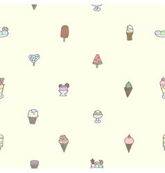 Seamless of colorful tasty ice cream vector
